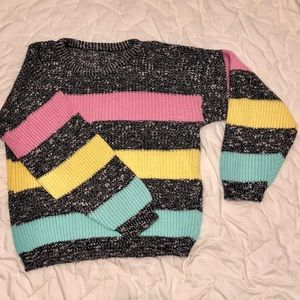 Sweaters - vintage big striped sweater